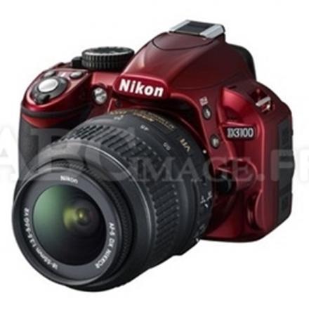 Reflex Nikon D3100 ROUGE+18-55 VR